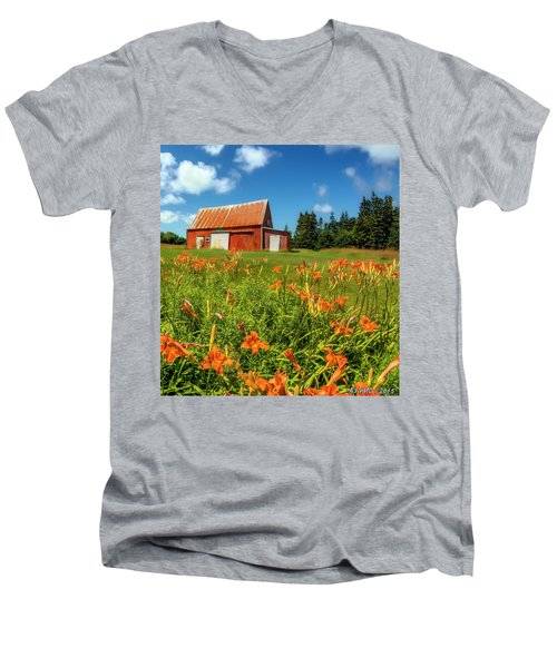 Old Barn In Cape Breton #2 Men's V-Neck T-Shirt