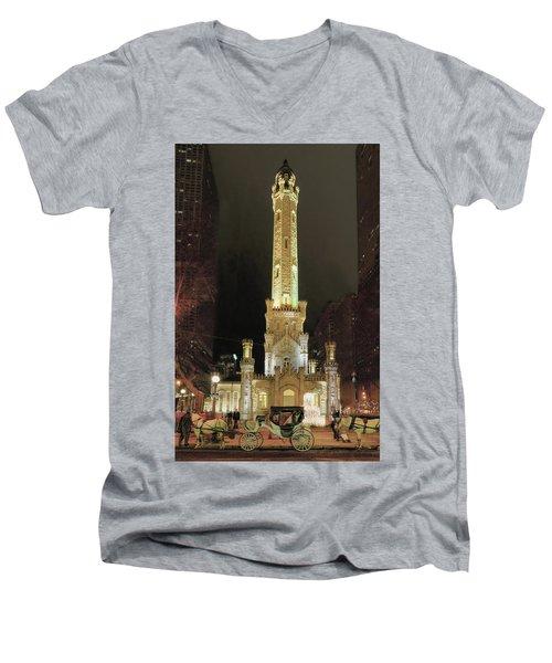 Old Chicago Water Tower Men's V-Neck T-Shirt