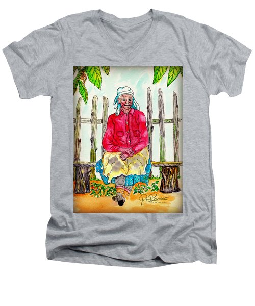 Old Migrant Worker, Resting, Arcadia, Florida 1975 Men's V-Neck T-Shirt