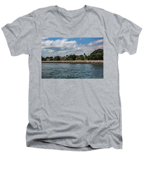 Old Point Comfort Light Men's V-Neck T-Shirt