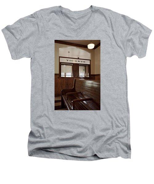 Old Time Train Station Men's V-Neck T-Shirt