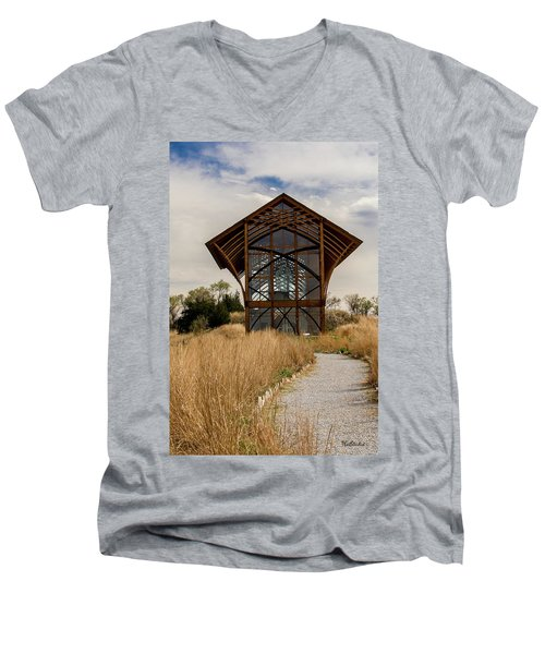 Omaha Holy Family Shrine 2 Men's V-Neck T-Shirt