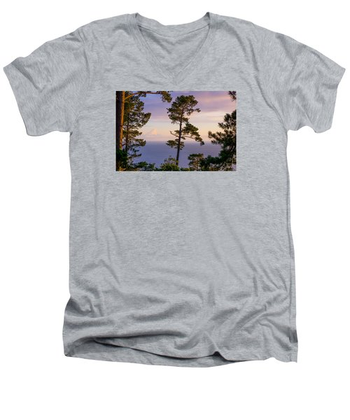 On The Edge Men's V-Neck T-Shirt by Derek Dean