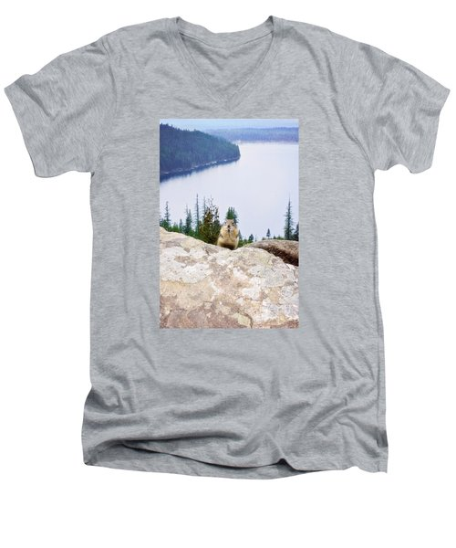 On Top Of The World Men's V-Neck T-Shirt