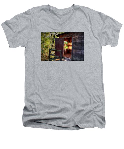 Open Door Men's V-Neck T-Shirt by Ester  Rogers