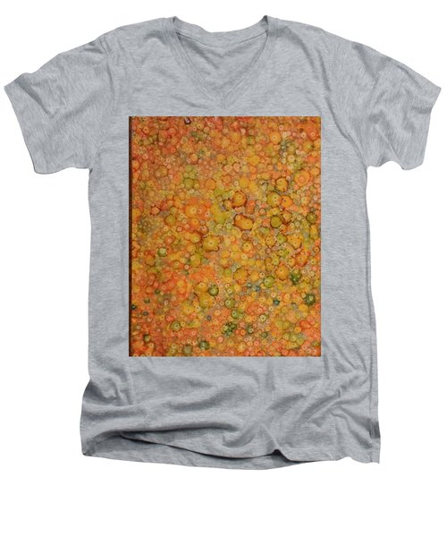 Orange Craze Men's V-Neck T-Shirt
