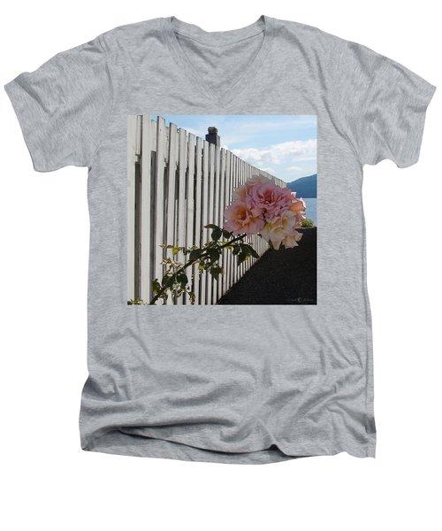Orcas Island Rose Men's V-Neck T-Shirt