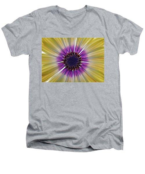 Osteospermum The Cape Daisy Men's V-Neck T-Shirt by Shirley Mitchell