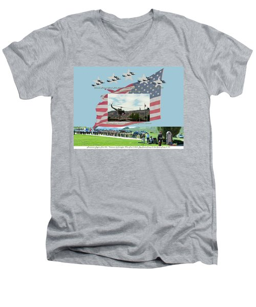 Men's V-Neck T-Shirt featuring the digital art Our Memorial Day Salute by Daniel Hebard