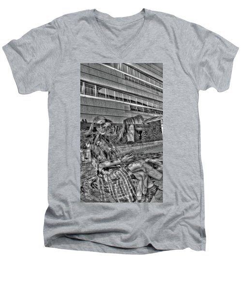 Out Of Phase 2 Men's V-Neck T-Shirt by Andy Lawless