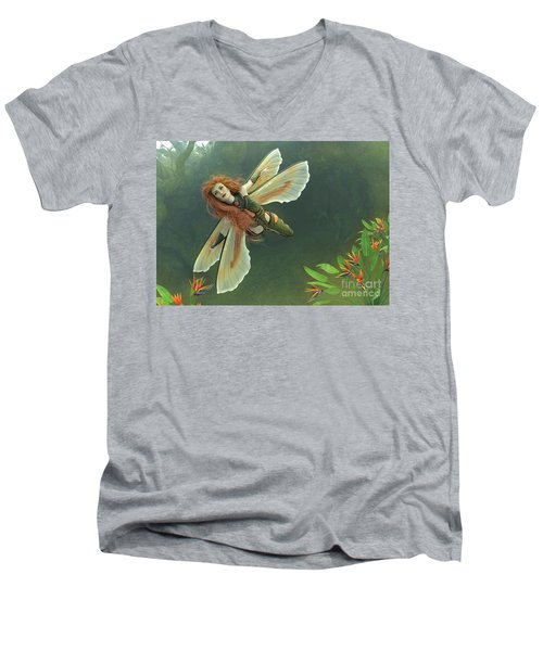 Out Of The Mist Men's V-Neck T-Shirt