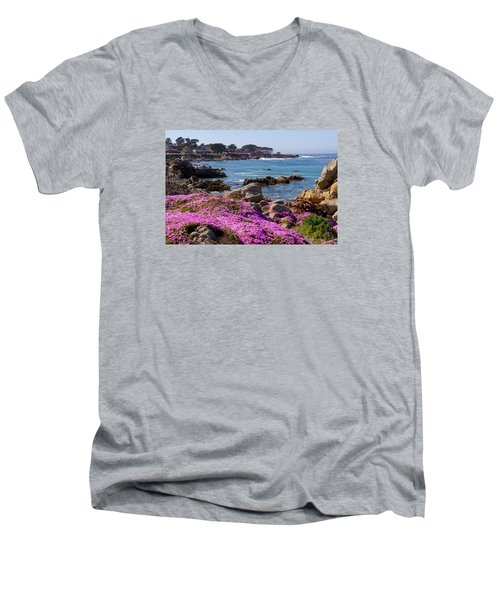 Pacific Grove Men's V-Neck T-Shirt by Derek Dean