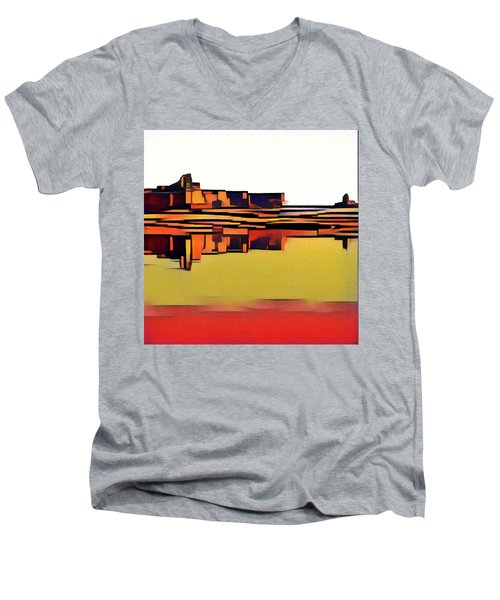Padre Bay Men's V-Neck T-Shirt by David Hansen