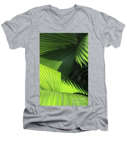 Palm Patterns Men's V-Neck T-Shirt