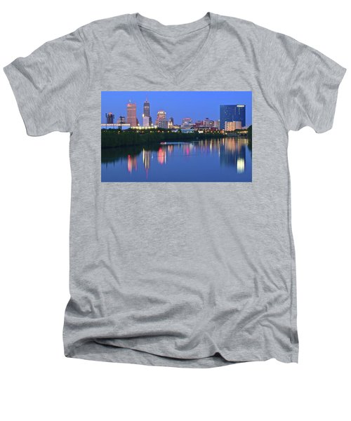 Panoramic Indianapolis Men's V-Neck T-Shirt