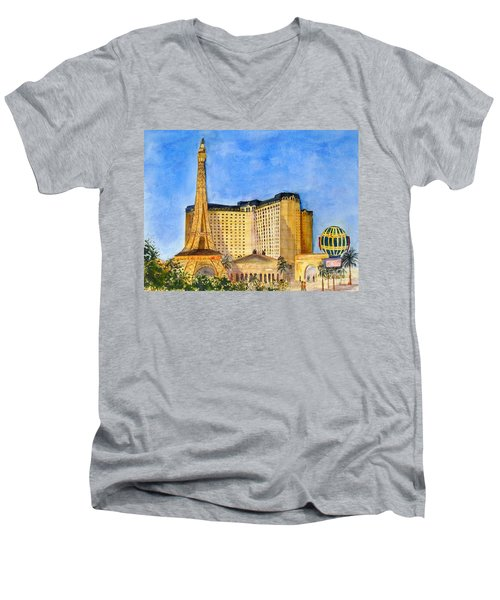 Paris Hotel And Casino Men's V-Neck T-Shirt