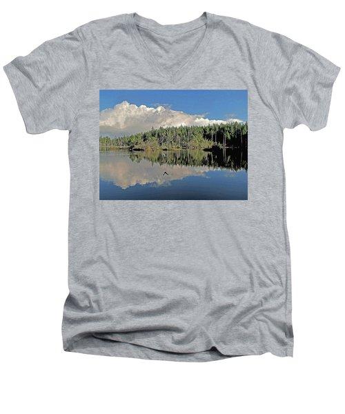 Pause And Reflect Men's V-Neck T-Shirt by Suzy Piatt
