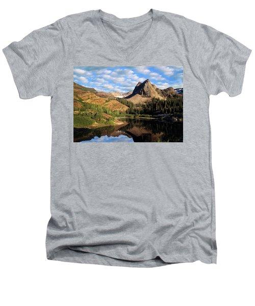 Peaceful Mountain Lake Men's V-Neck T-Shirt