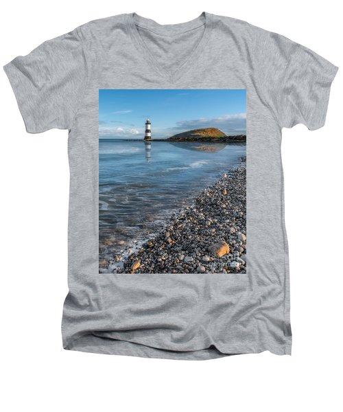 Penmon Point Lighthouse Men's V-Neck T-Shirt