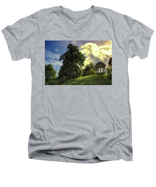 Petworth House Men's V-Neck T-Shirt by Martin Newman