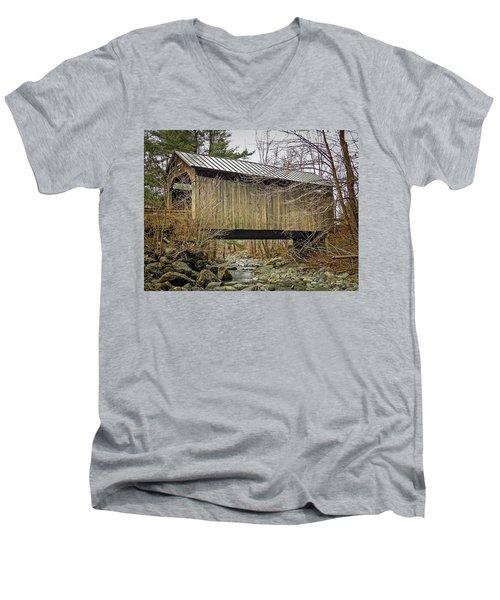 Pine Brook Bridge Men's V-Neck T-Shirt