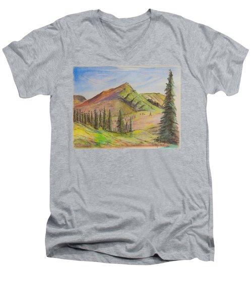 Pines On The Hills Men's V-Neck T-Shirt