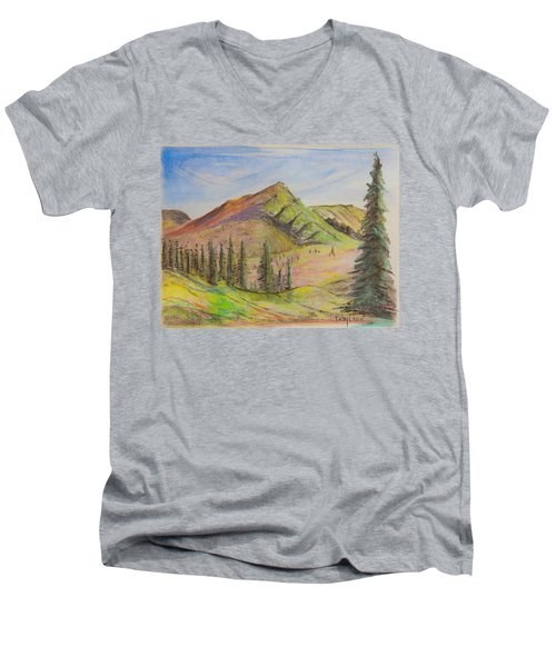 Pines On The Hills Men's V-Neck T-Shirt