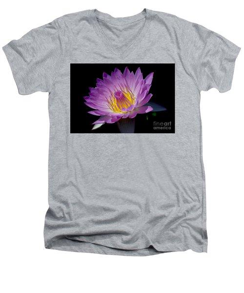 Pink Sapphire Men's V-Neck T-Shirt