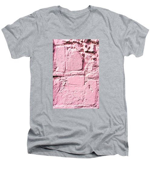 Pink Wall Men's V-Neck T-Shirt