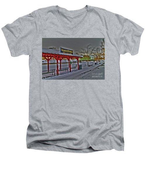 Pittsford Canal Park Men's V-Neck T-Shirt