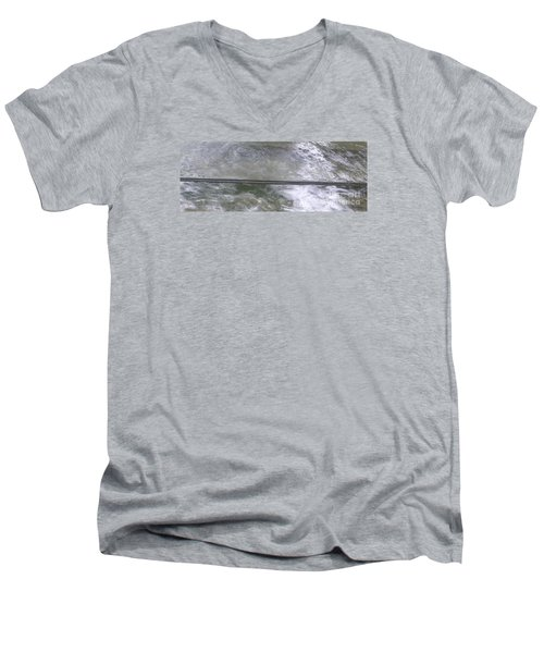 Pond  Men's V-Neck T-Shirt by Nora Boghossian