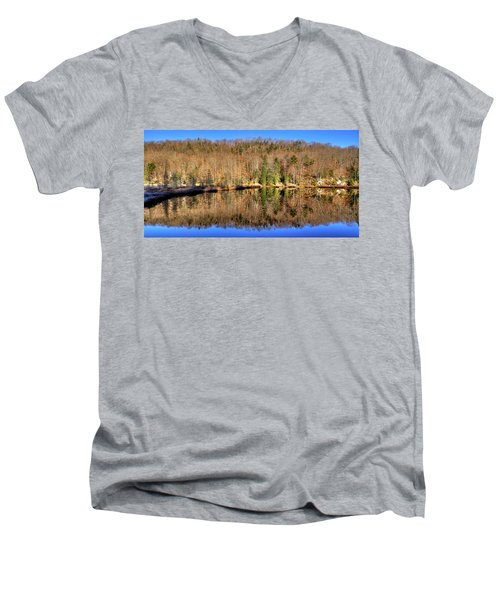 Men's V-Neck T-Shirt featuring the photograph Pond Reflections by David Patterson