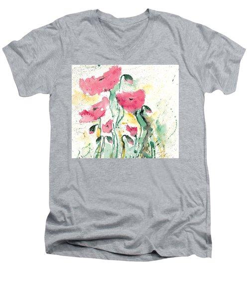 Poppies 10 Men's V-Neck T-Shirt