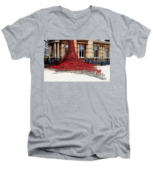 Poppies - City Of Culture 2017, Hull Men's V-Neck T-Shirt
