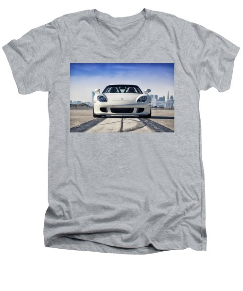 #porsche #carreragt Men's V-Neck T-Shirt