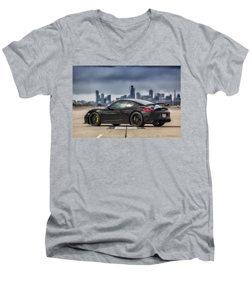 #porsche #cayman #gt4 Men's V-Neck T-Shirt
