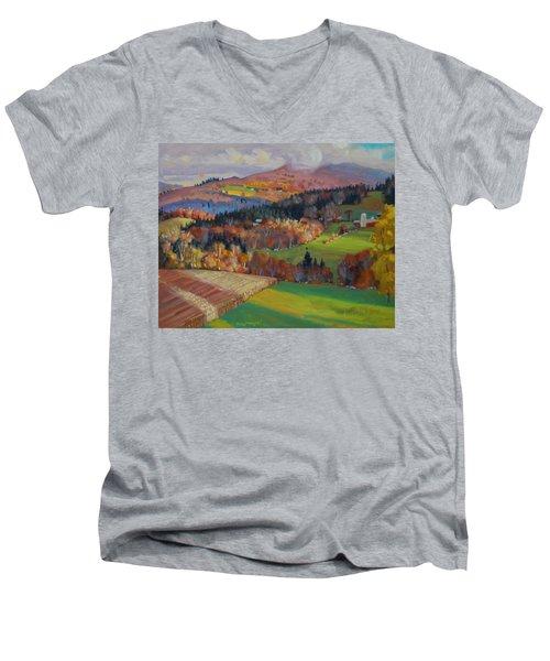 Pownel Vermont Men's V-Neck T-Shirt