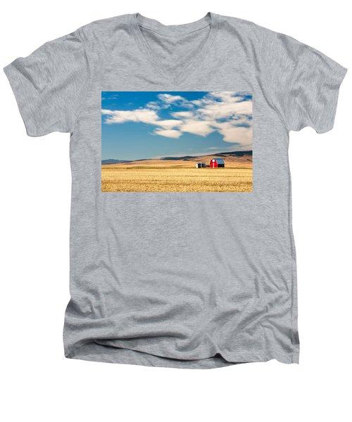Prairie Red Men's V-Neck T-Shirt