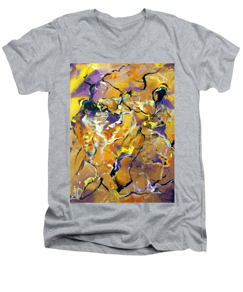 Praise Dance Men's V-Neck T-Shirt by Raymond Doward