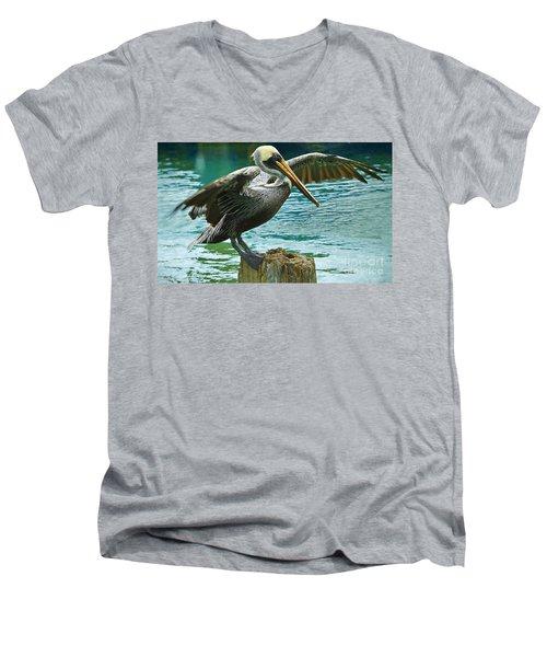 Preparing For Takeoff Men's V-Neck T-Shirt by Judy Kay