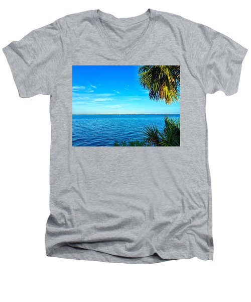 Private Paradise Men's V-Neck T-Shirt by Carlos Avila