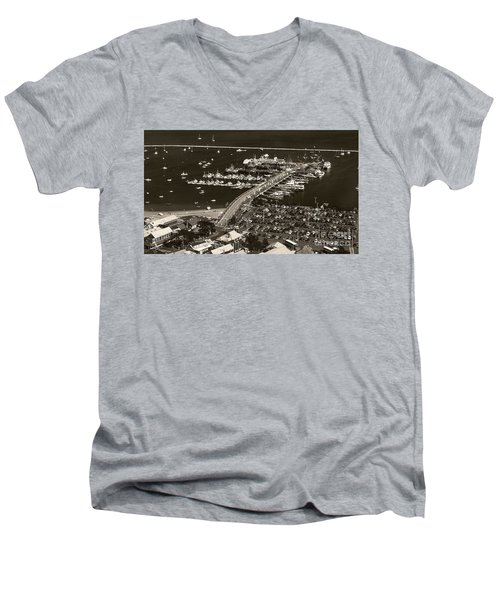 Provincetown  Men's V-Neck T-Shirt by Raymond Earley