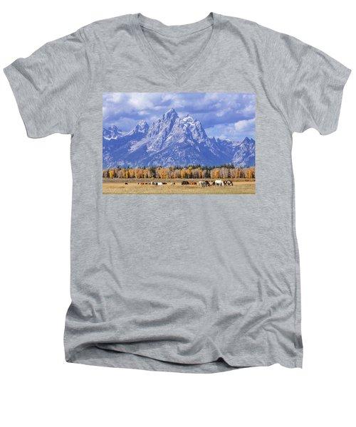 Purple Mountains Majesty Men's V-Neck T-Shirt
