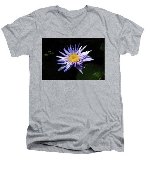 Purple Water Lily Men's V-Neck T-Shirt