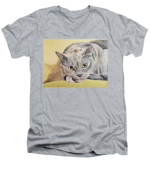 Puss Off Men's V-Neck T-Shirt