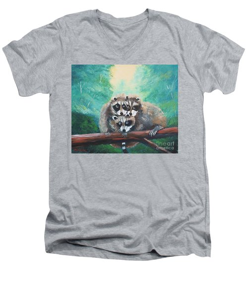 Racoons Men's V-Neck T-Shirt