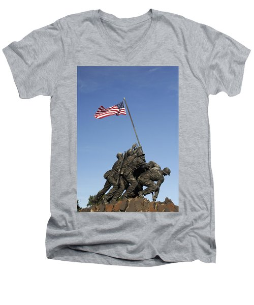 Raising The Flag On Iwo - 799 Men's V-Neck T-Shirt
