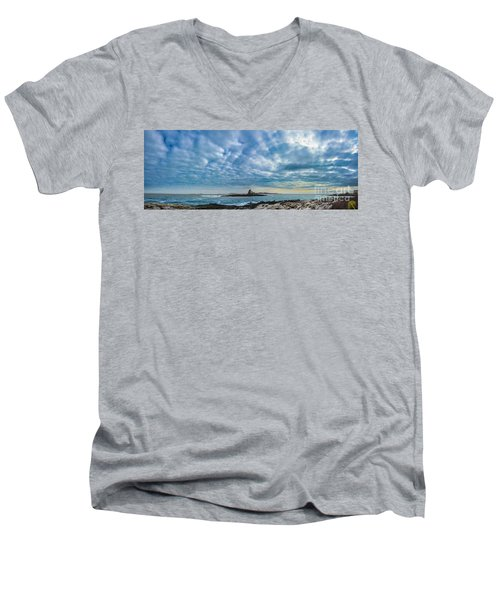 Ram Island Light Men's V-Neck T-Shirt