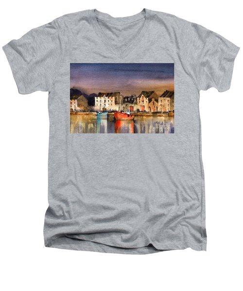 Ramelton Dusk, Donegal. Men's V-Neck T-Shirt