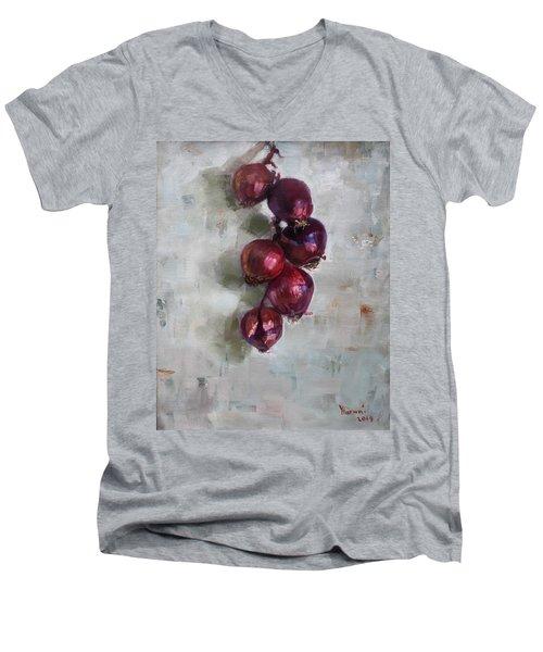 Red Onions Men's V-Neck T-Shirt